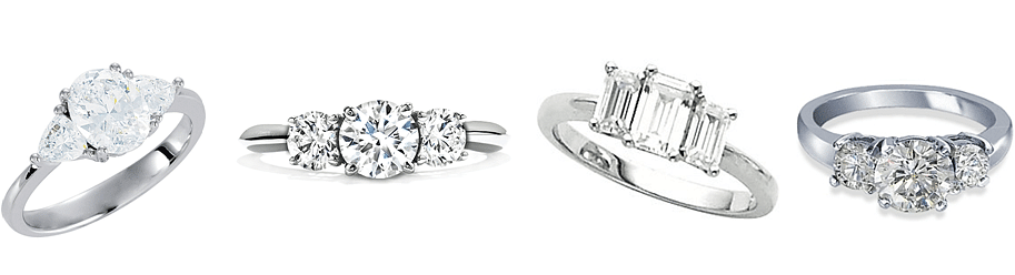Examples of Three Stone engagement rings