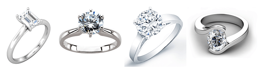 Examples of Solitaire engagement rings