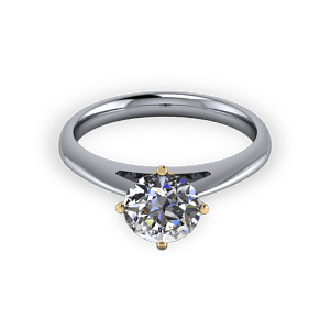 Four claw engagement ring