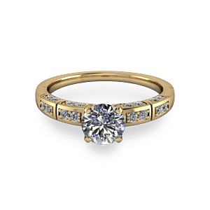 14kt yellow gold diamond ring