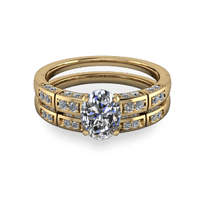 14kt diamond segmented wedding band