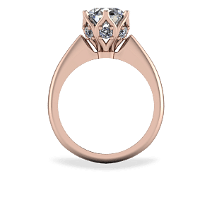 Organic six claw solitaire ring