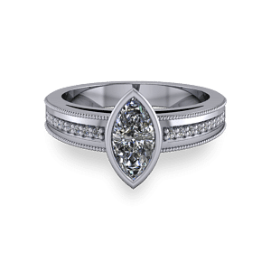 Art deco inspired marquise