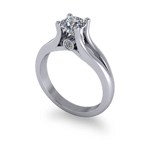 Split shank commitment ring