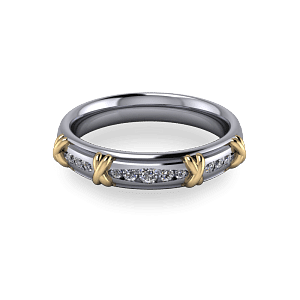 Platinum eternity with taper channel set stones
