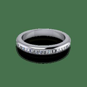 Baguette cut diamond ring