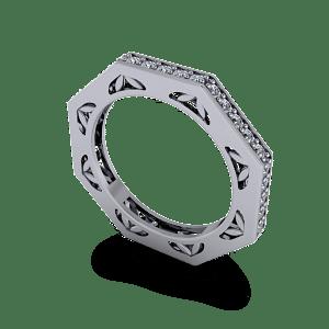 Beautiful pierced prong set eternity ring