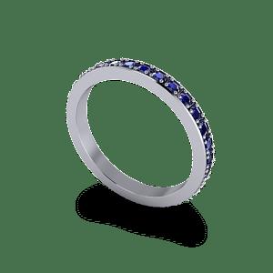 Sapphire eternity band