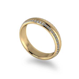 Double row diamond band