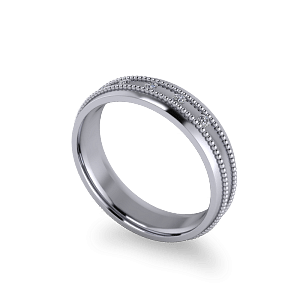 Flush set diamond band