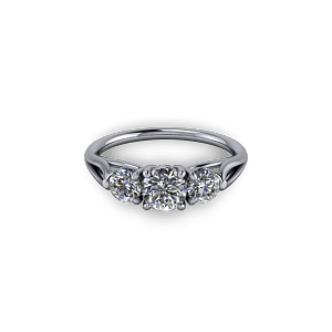Diamond Three Stone Eternity Ring