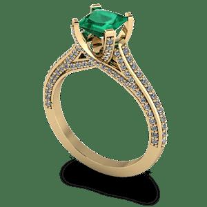 Diamond-encrusted-engagement-ring