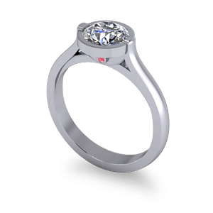 Engagement ring with peak stone