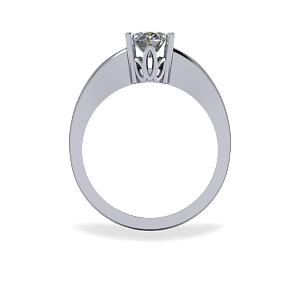 Four claw diamond ring