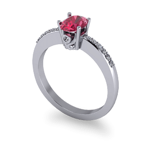 Pink sapphire filagree ring