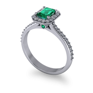 Beautiful emerald halo ring