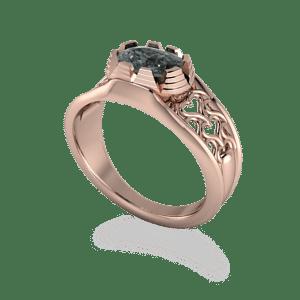 Gothic, Rose gold, Black diamond, Filigree, Romantic