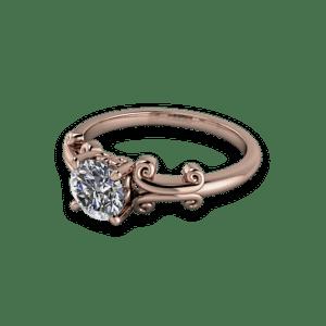 rose gold, bespoke ring, solitaire, single stone, diamond engagement ring.