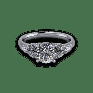 diamond, Platinum, Shoulder stones,
