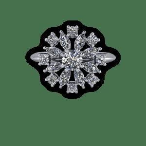 Garnet,Gothic,14ct gold engagement ring,Victoriana,