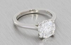 Large Classic Solitaire Cathedral Engagement ring - Portfolio
