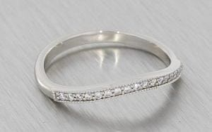 Fitted Vintage Wedding band with Milgrain - Portfolio