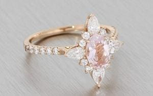 Romantic Rose Gold Ballerina Ring With A Beautiful Soft Pink Oval Morganite – Portfolio